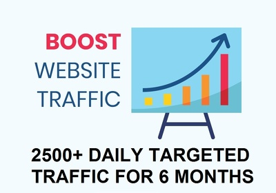 Send 2500 daily targeted real website traffic for 6 months