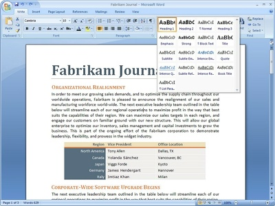 Proofread, format and style your Word document