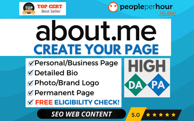 ★ Create your ABOUT.ME Personal or Business Page + BACKLINK ★