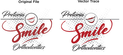 Redraw your artworks as vector for print