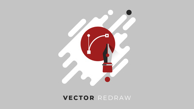 Redraw your logo into a Vector
