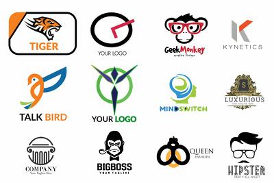 Create a flat minimalist logo design in 24 hours