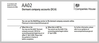 Prepare and Submit Dormant Accounts with Companies House