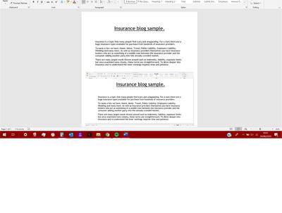 Write you an insurance blog (500 words)