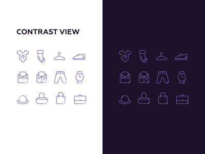 Draw 2 LINE iCONS in this style for your project