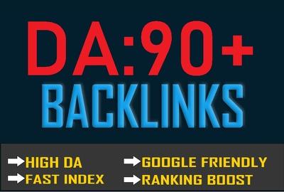 Create 100% Manual 10 High DA 96-90 High Authority Backlinks