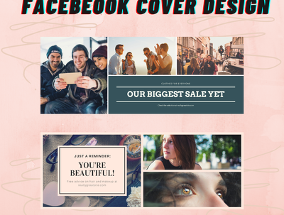 create a graphic design material for your facebook page