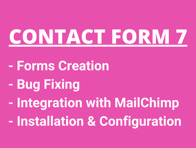 Make contact forms, install and fix contact form 7 bugs