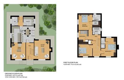 Design Colorful Rendered Floorplan