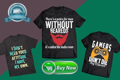 Make creative and awesome custom t shirt design
