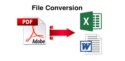 Convert 15 pdf to excel, word