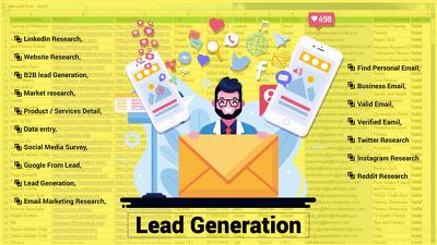 Do b2b seller lead generation web research linkedin lead