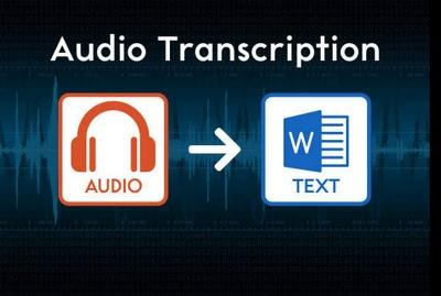 English Audio Transcription One Hour