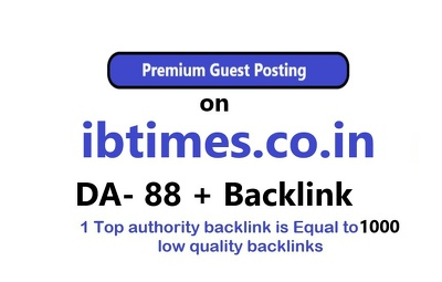 Publish guest post on IBTimes india ibtimes.co.in with backlink
