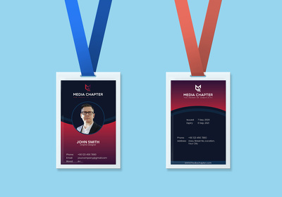 Design employee ID card with unlimited revision