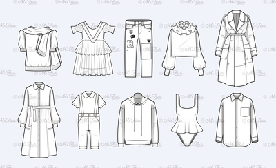 Create fashion CAD technical drawings