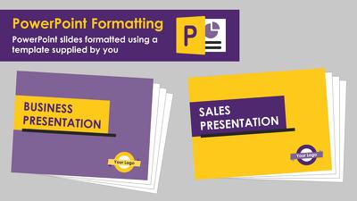 Format your PowerPoint slide deck