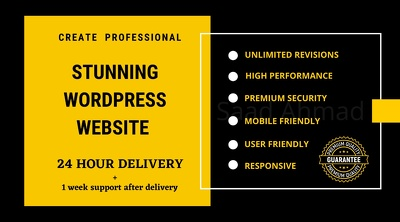 create a professional WordPress website or fix any issue