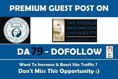 EDU guest post on George washington university - gwu edu - DA 79
