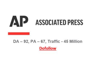 Guest Post/Press Release on APNews.com, Apnews, DA 92, Dofollow