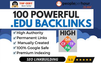★ Manually create 100 HIGH QUALITY EDU BACKLINKS - High DA ★
