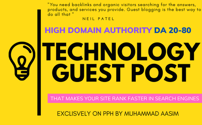 Write and publish guest post on high da technology blog