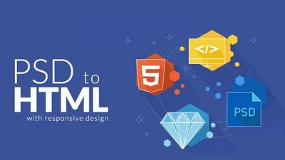 Convert sketch, psd, xd to HTML responsive bootstrap 4