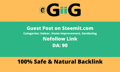 Publish a high authority guest post on Steemit DA 90