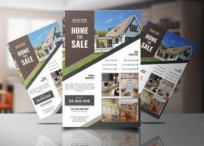 Design real estate or business flyer
