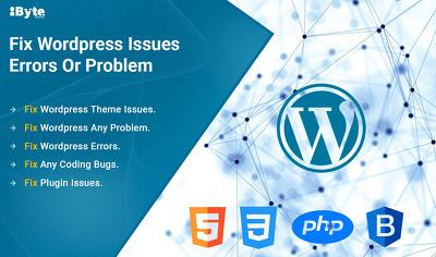 I will redesign wordpress website, customize website, fix issues