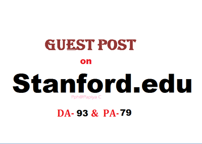 Publish content on Stanford.edu with DF backlink(DA-93, PA-79)