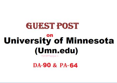 Publish content on Umn.edu with DF backlink(DA-90, PA-64)