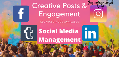 Be your social media manager, content designer and posting posts