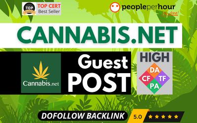 ★ Write Publish HQ guest post on cannabis.net - DoFollow - CBD ★
