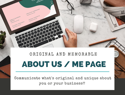 Write an original and memorable About Us page for your website