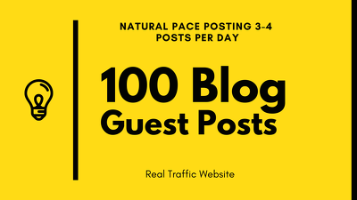 100 guest posts with 300 dofollow backlinks