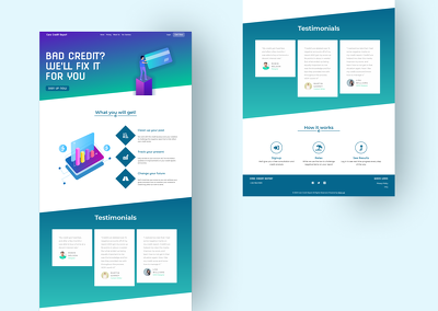 Create a sale generating landing page with a eye catching design