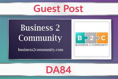 Guest post on Business2Community - business2community.com - DA84