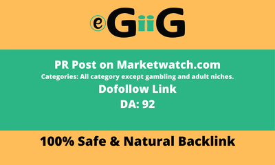 Guest Posting on MarketWatch Dofollow link DA 92 - Only 2 left
