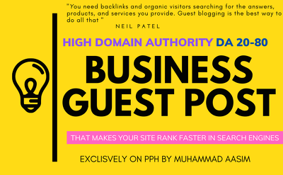 Write and publish guest post on high da business blog