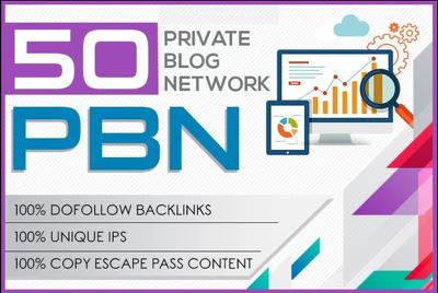 Do 50 HIGH METRICS pbn posts contextual backlinks 42 Hours