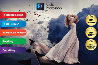 Professionally edit 5 photos by Photoshop edit within 24 hours