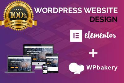Design a official Elementor pro website.