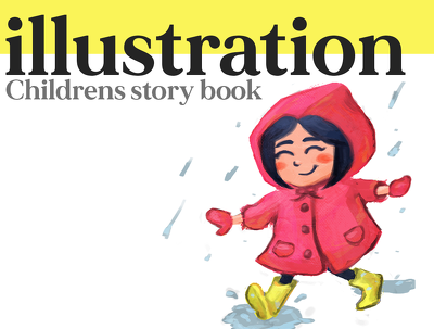 Illustrate children's book with unique drawings