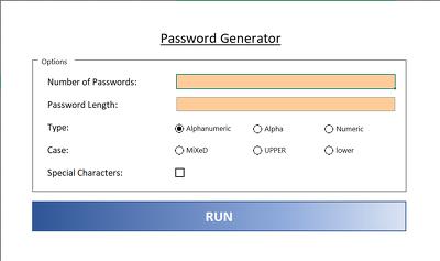 Provide you with my custom password generator