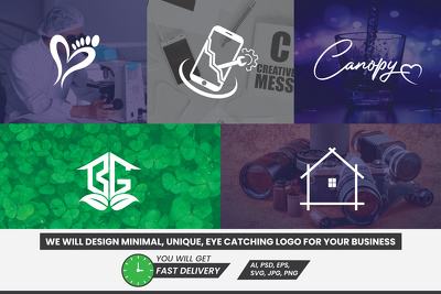 Design an outstanding logo with unique concept in a short time