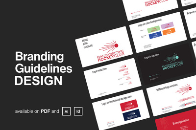 Design professional brand book guidelines