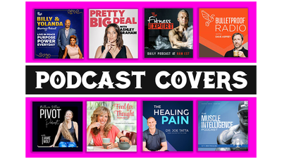 Design a professional podcast cover art or podcast logo design