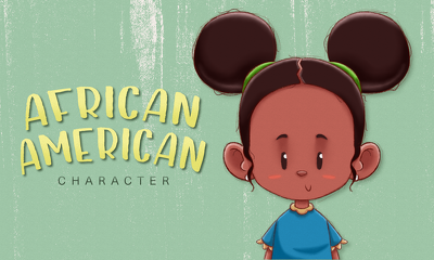 Make you an African-American characters for your children's book