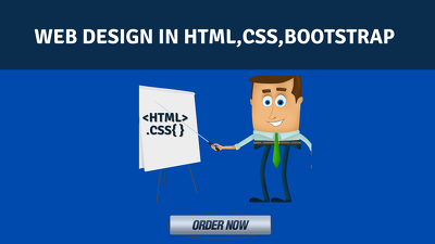design website using html,css,JavaScript and Bootstrap